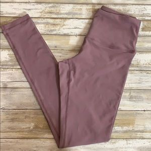 Mauve high waisted leggings